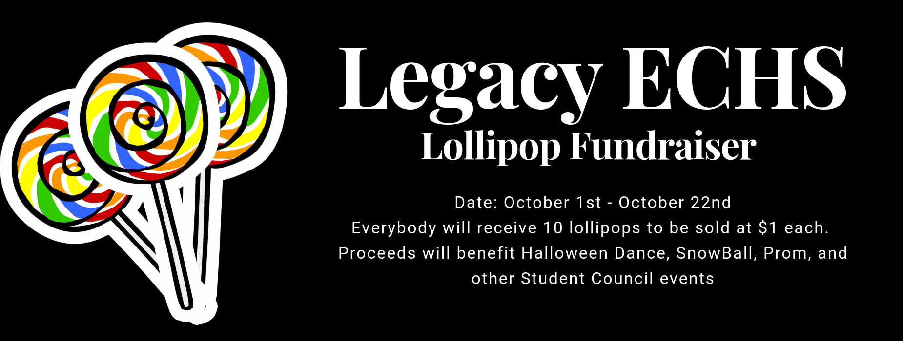 StuCo Lollipop Fundraiser 10/1-10/22