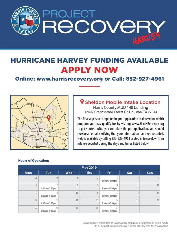 Funding for those affected by Hurricane Harvey. Featured Photo