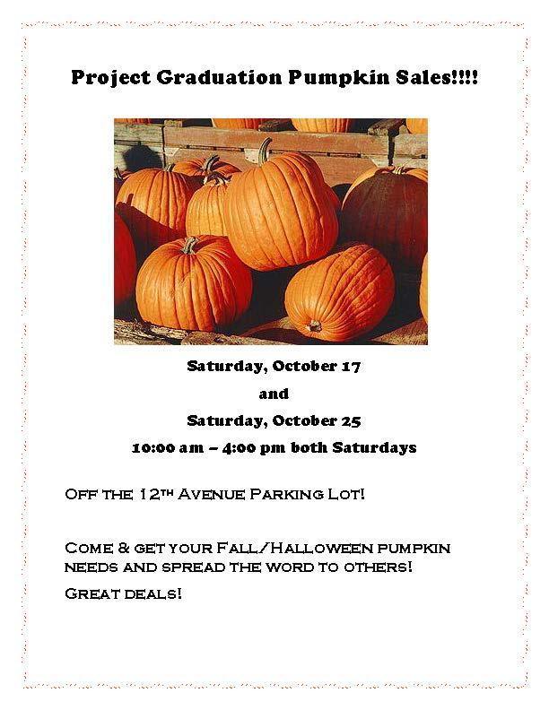 Project Grad Pumpkin Sales