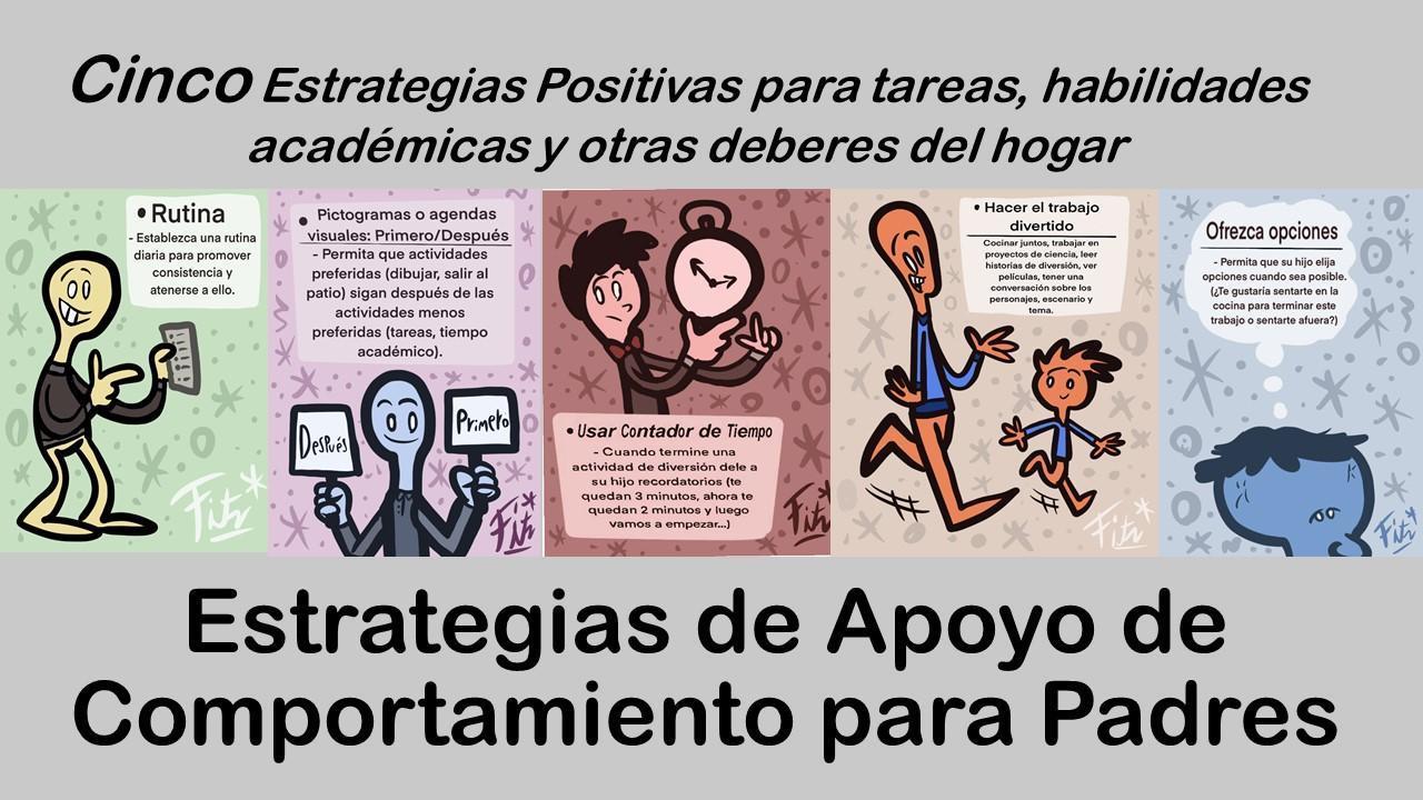 Cinco Estrategias de Apoyo de Comportamiento para Padres