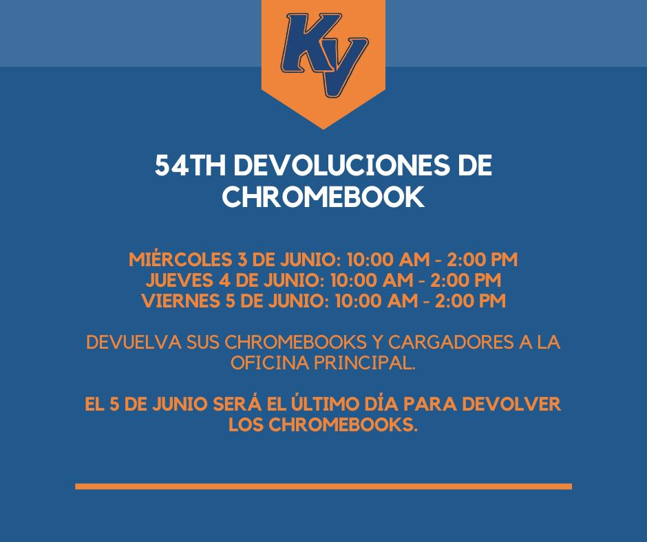 Chromebook Return Schedule