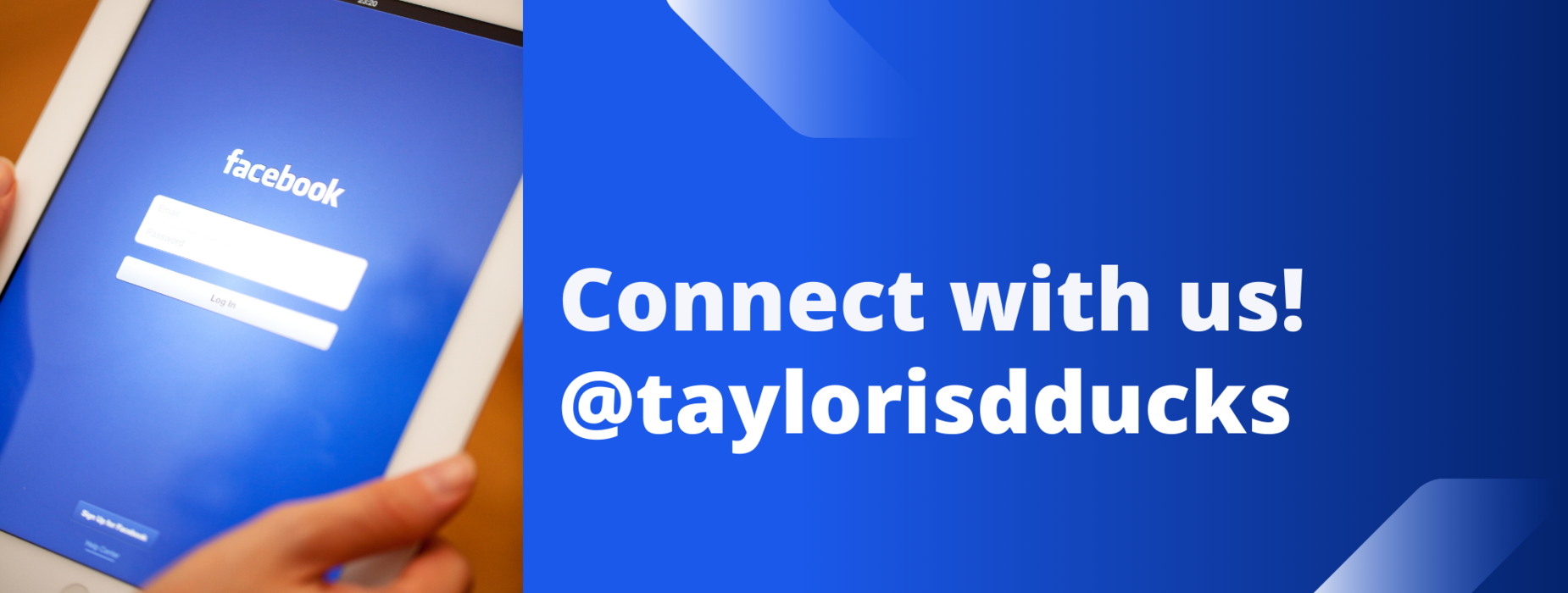 connect with us on Facebook banner
