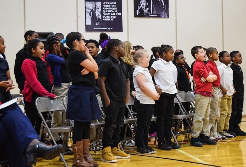 South Choir singing