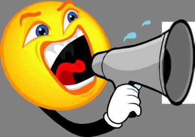 megaphone yelling announcements
