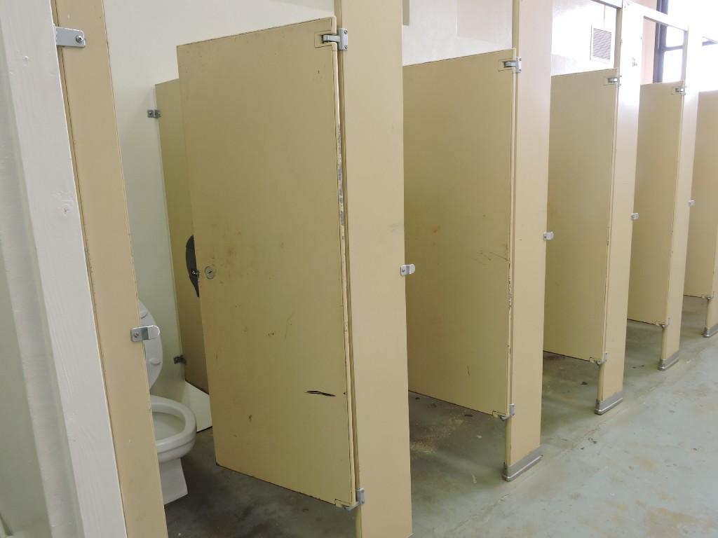 view of restrooms