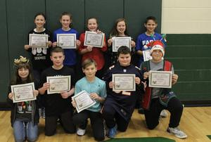 6th Grade Award Winners