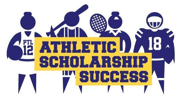 Athletic scholarship success poster
