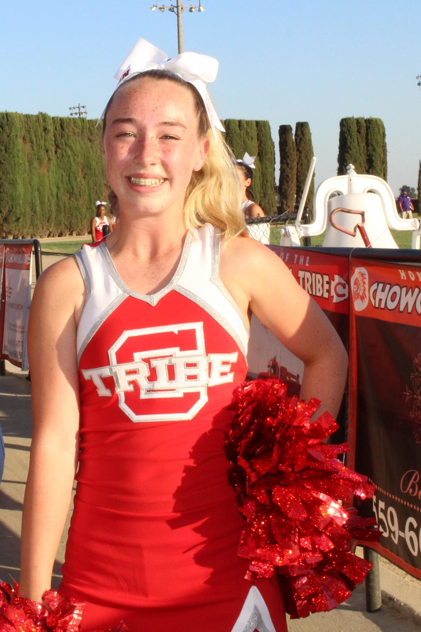 Fun at the football game against Fresno