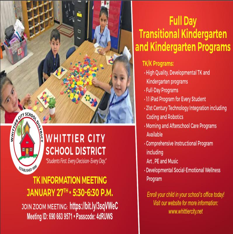 TK & Kinder Info Night Flyer