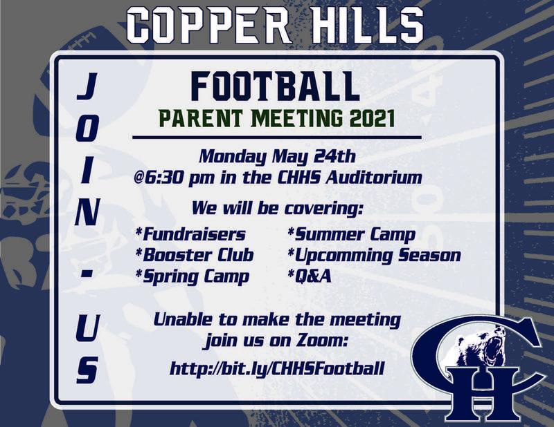 Football Parent Meeting May 24th, 2021
