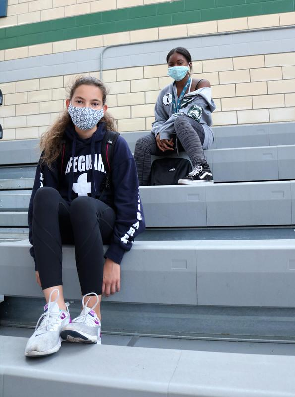 Photo of Edison students donning sneakers to