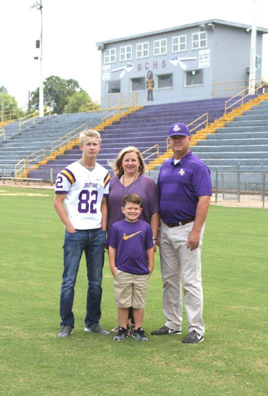 Linebackers Coach- Matt Hughey, wife Kristie, and sons Baylor and Barrett