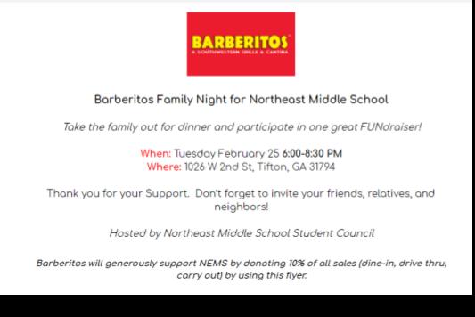 Barberitos Family Night 02/25/2020 Featured Photo