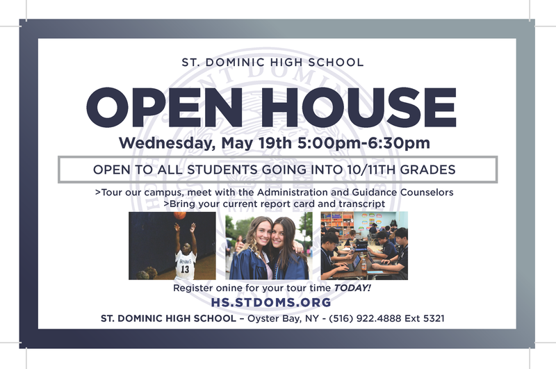 St. Dominic High School Open House - Wednesday, May 19th Featured Photo