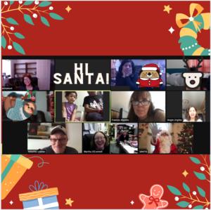 Welcoming Santa on zoom