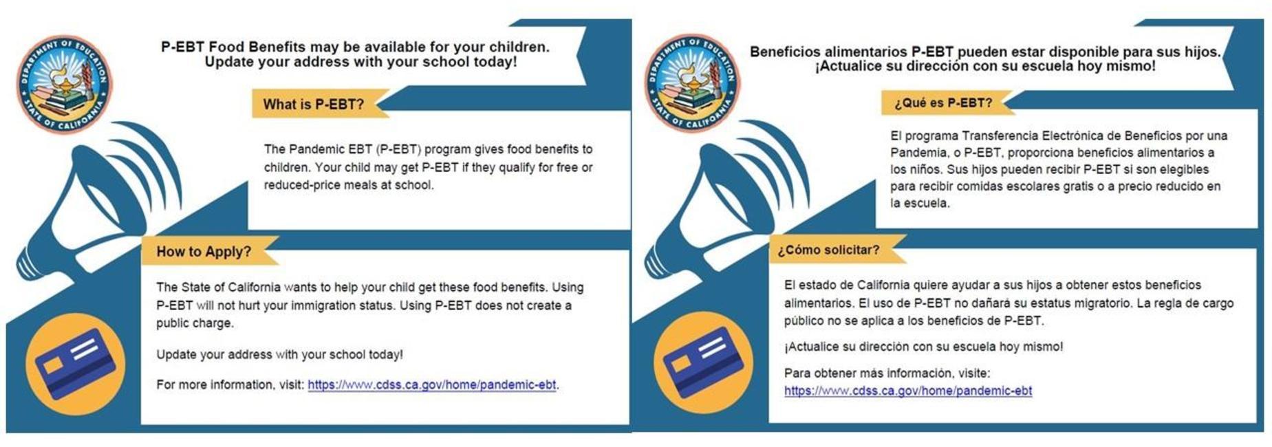 P-EBT Food Benefits