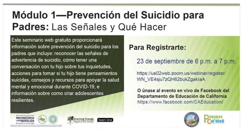 Prevención del suicidio para padres: 23 de septiembre Featured Photo