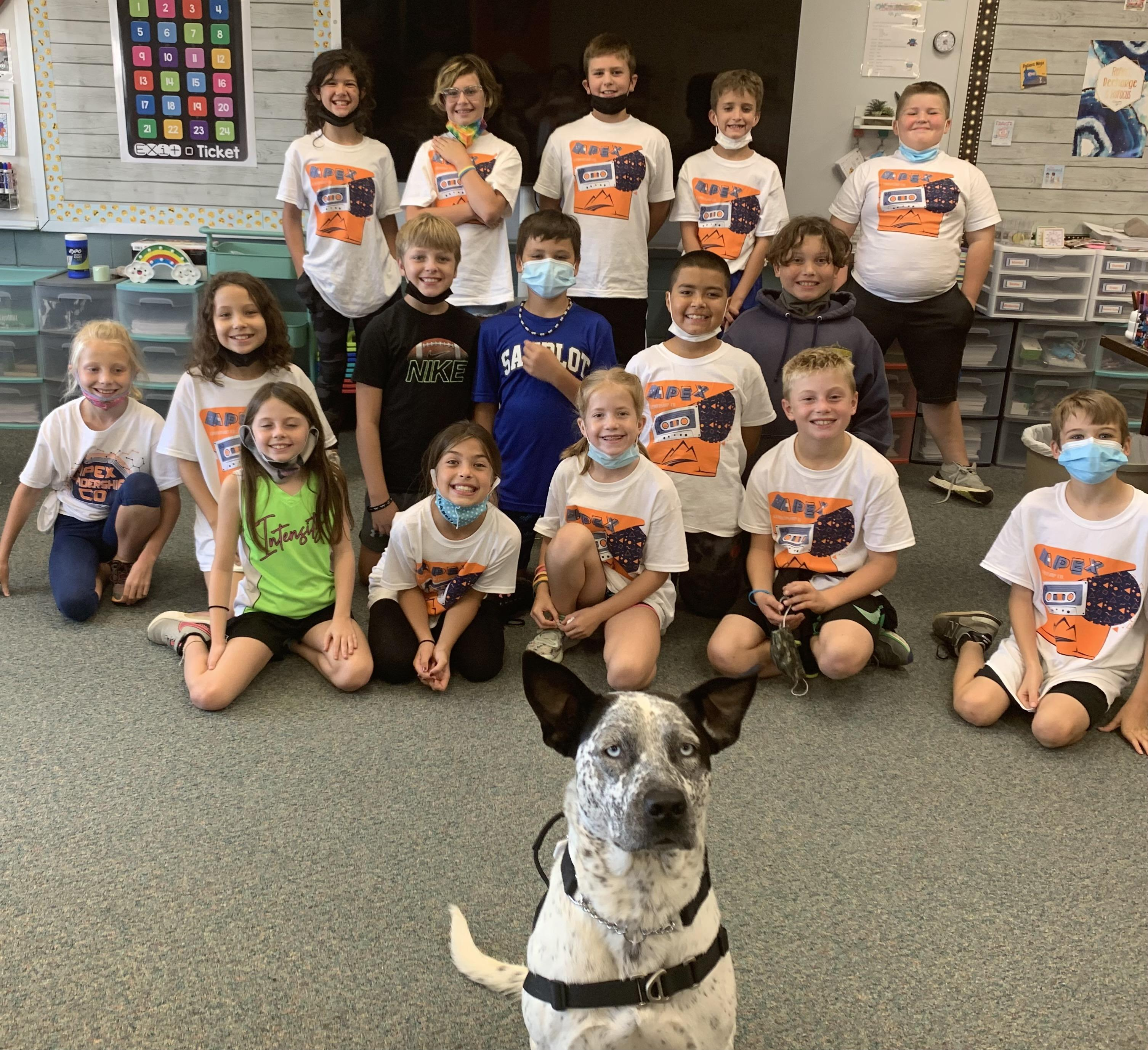 Skye with Ms. Dulaney's class