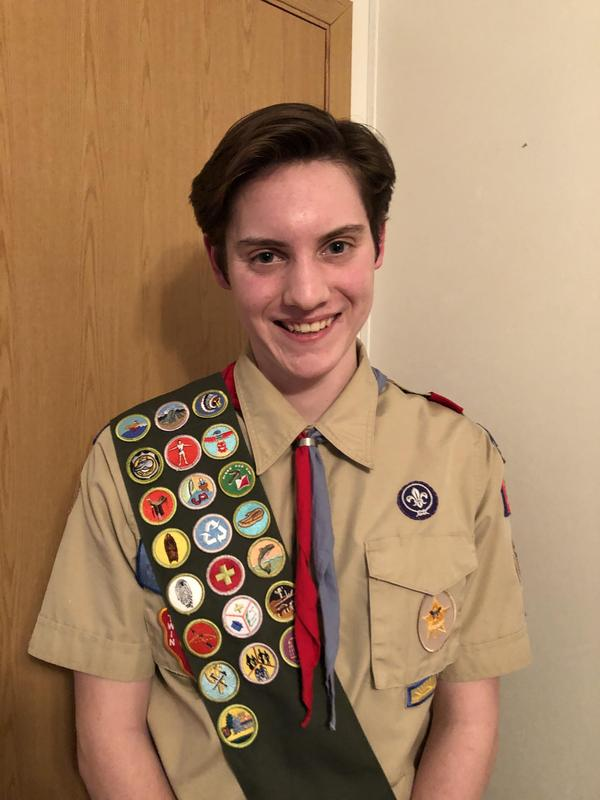 pic of Jeremy Fink in boy scout uniform