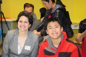 Principal Martha and Student