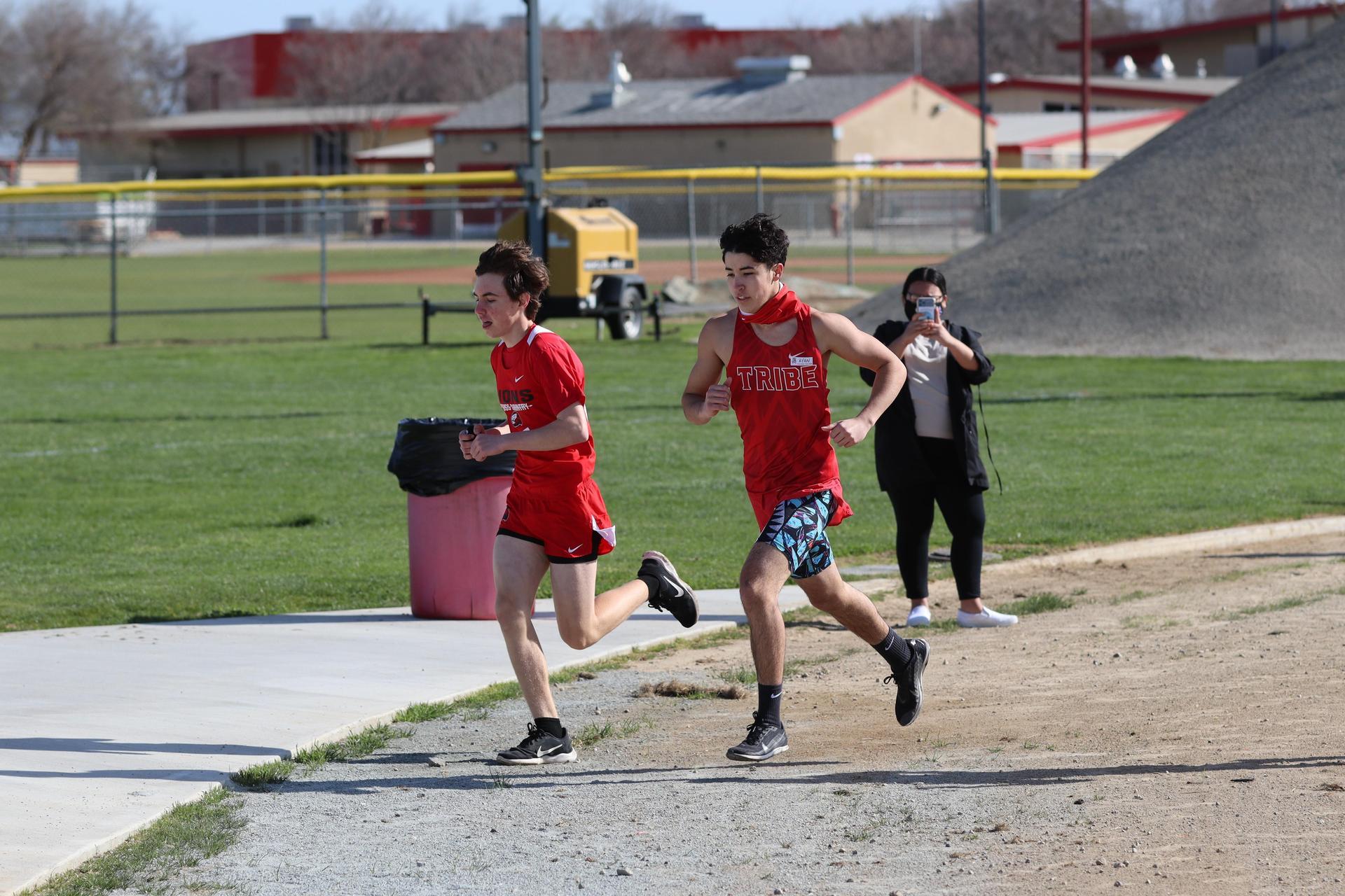 boys running at kerman
