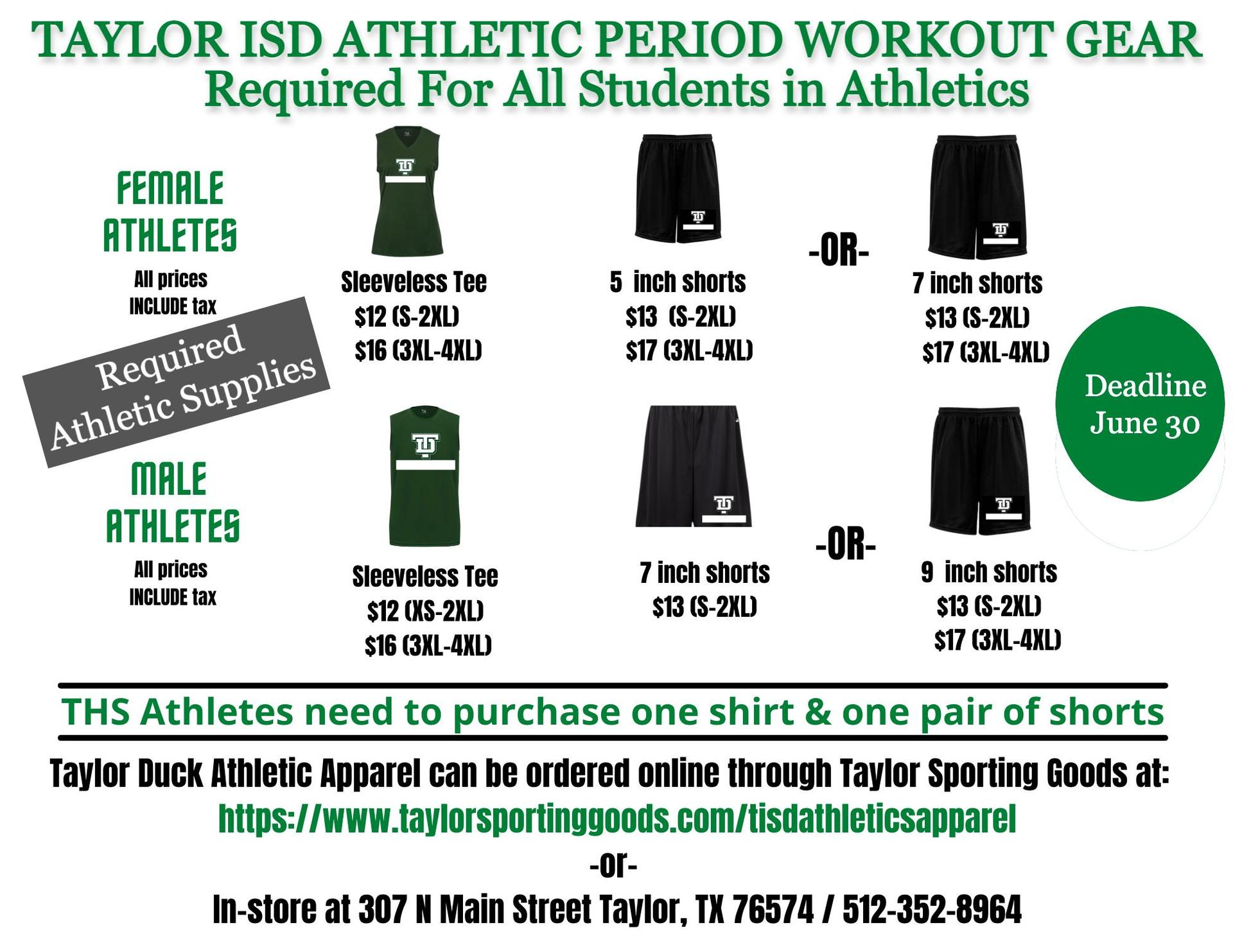 Athletic Workout Gear