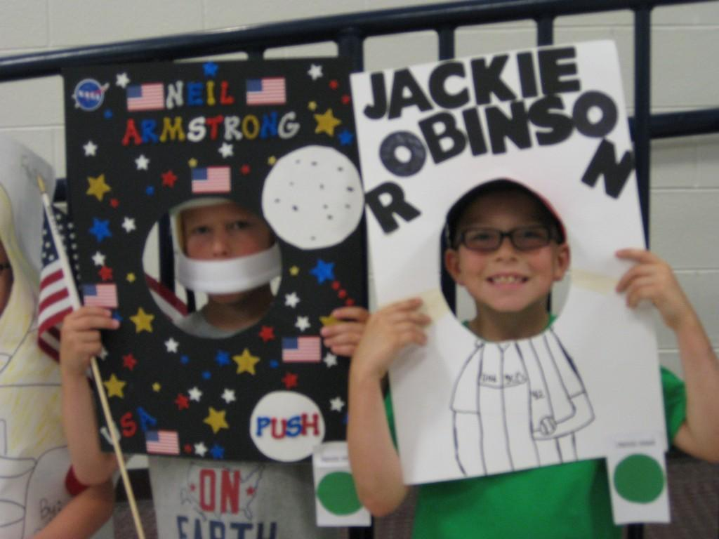 Wax Museum-Neil Armstrong and Jackie Robinson