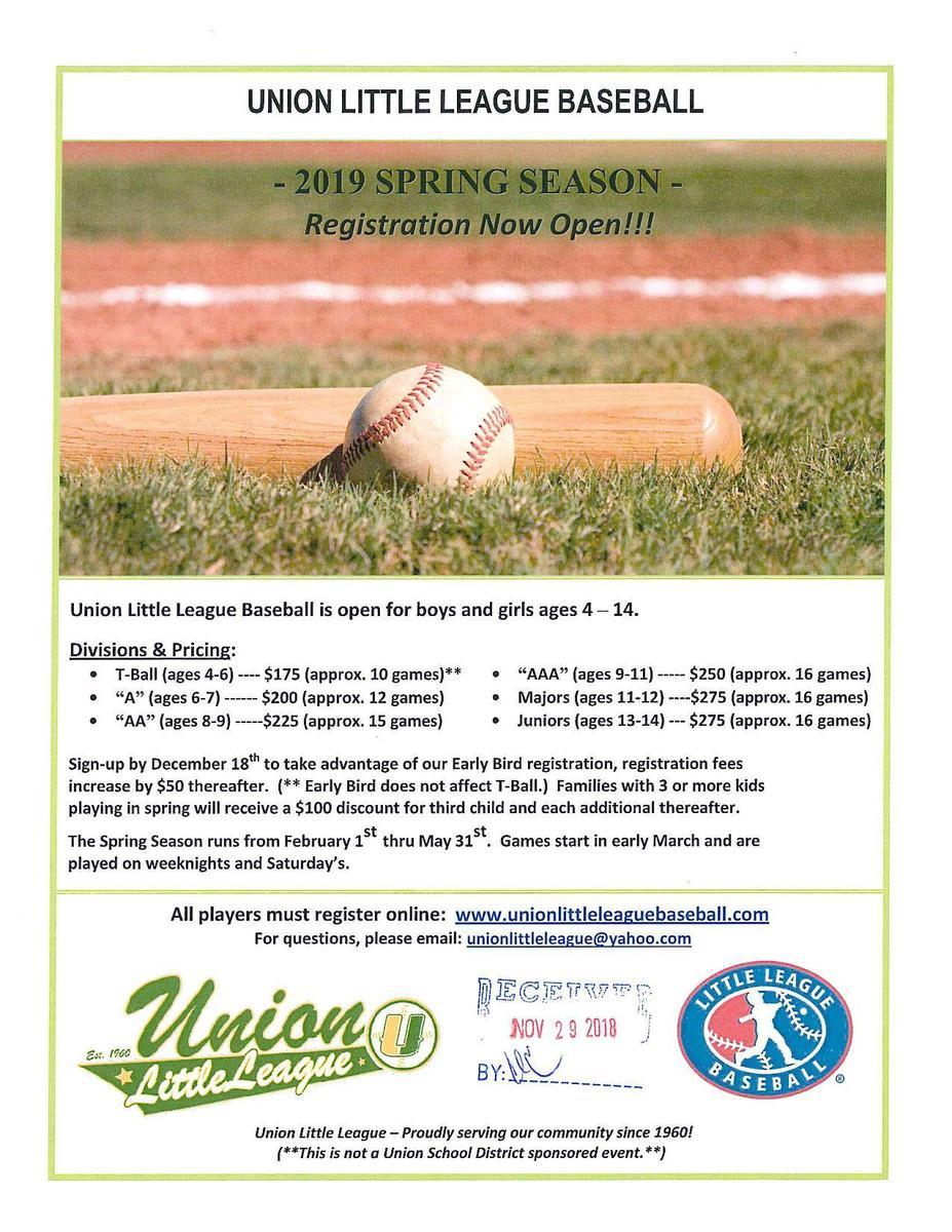 Union Little League Baseball