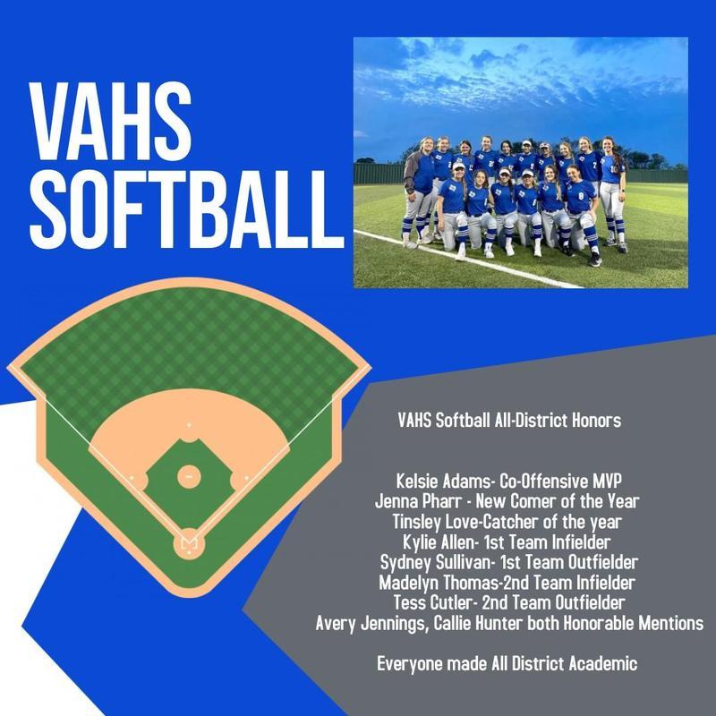 VAHS Softball All-District Honors Thumbnail Image