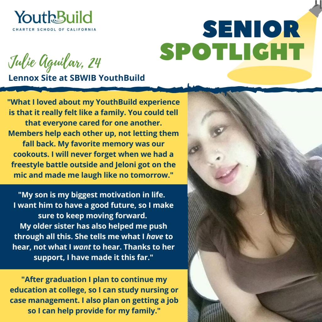 Senior Spotlight for graduate Julie Aguilar