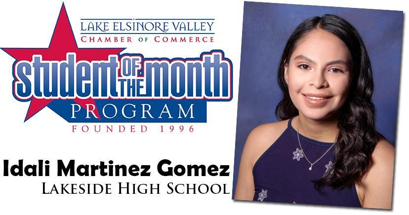Idali Martinez Gomez, Lakeside HS, Student of the Month Honoree for September 15, 2020.