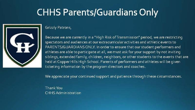 CHHS Parents / Guardians Only