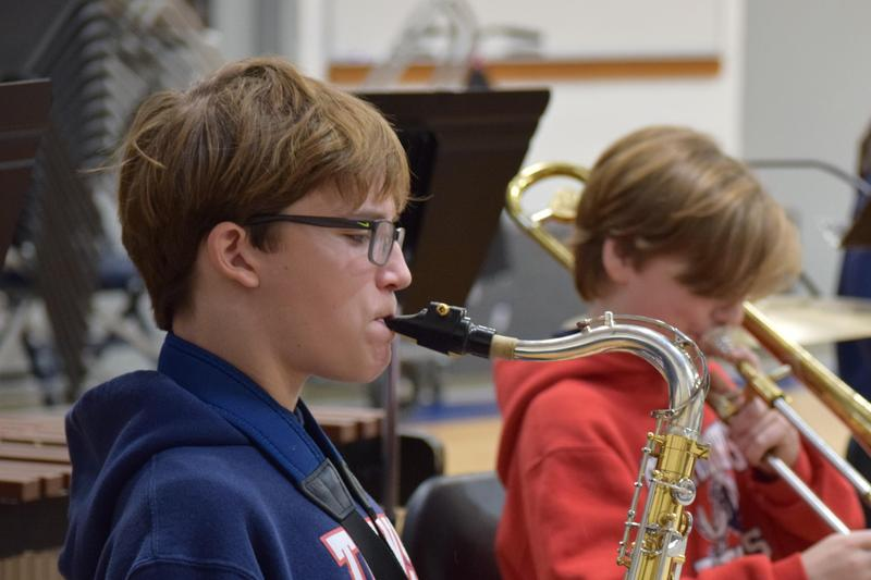 St. TImothy's students chosen for the All District Symphonic Band.