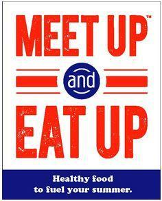 Meet Up[ and Eat Up logo