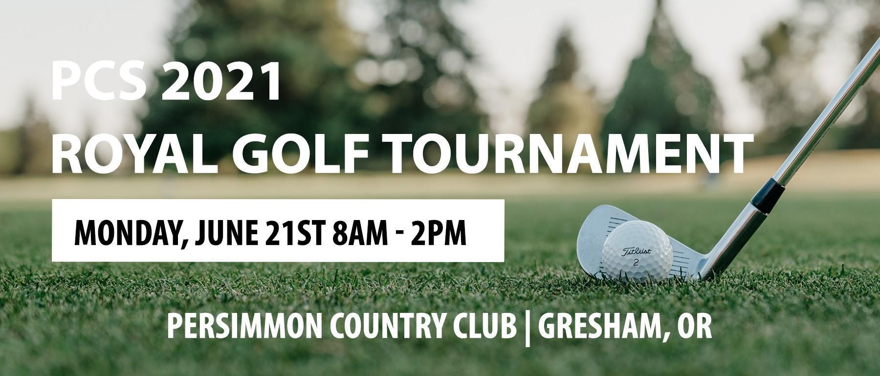 Promo banner for golf tournament