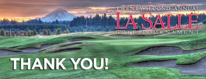 stone creek golf course with mountain, overlay text saying 'thank you!'