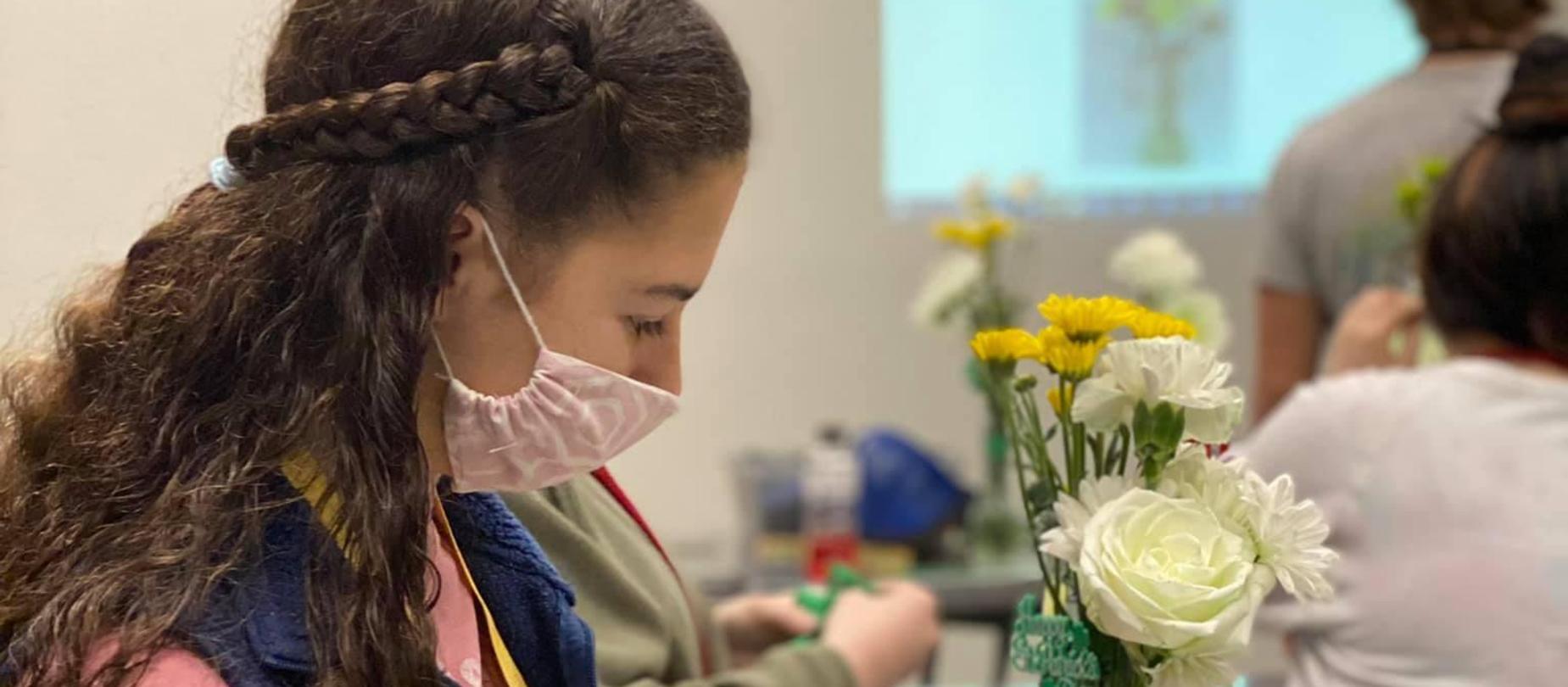 Floral Design student