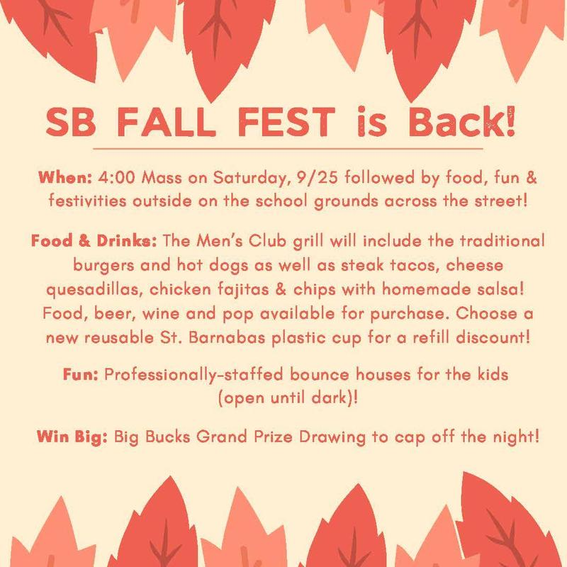 Join us for Fall Fest on September 25! Featured Photo