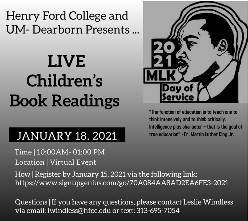 Live Readings for MLK Day! Featured Photo
