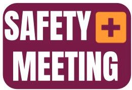 Safety Meeting Sign (English)