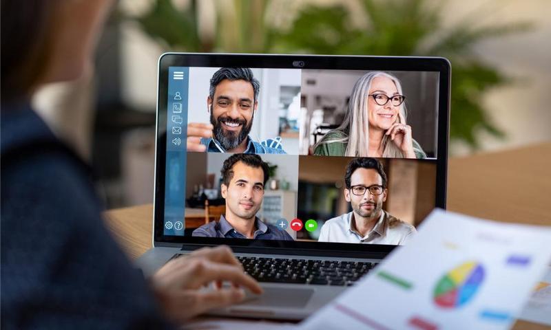Online meeting computer screen