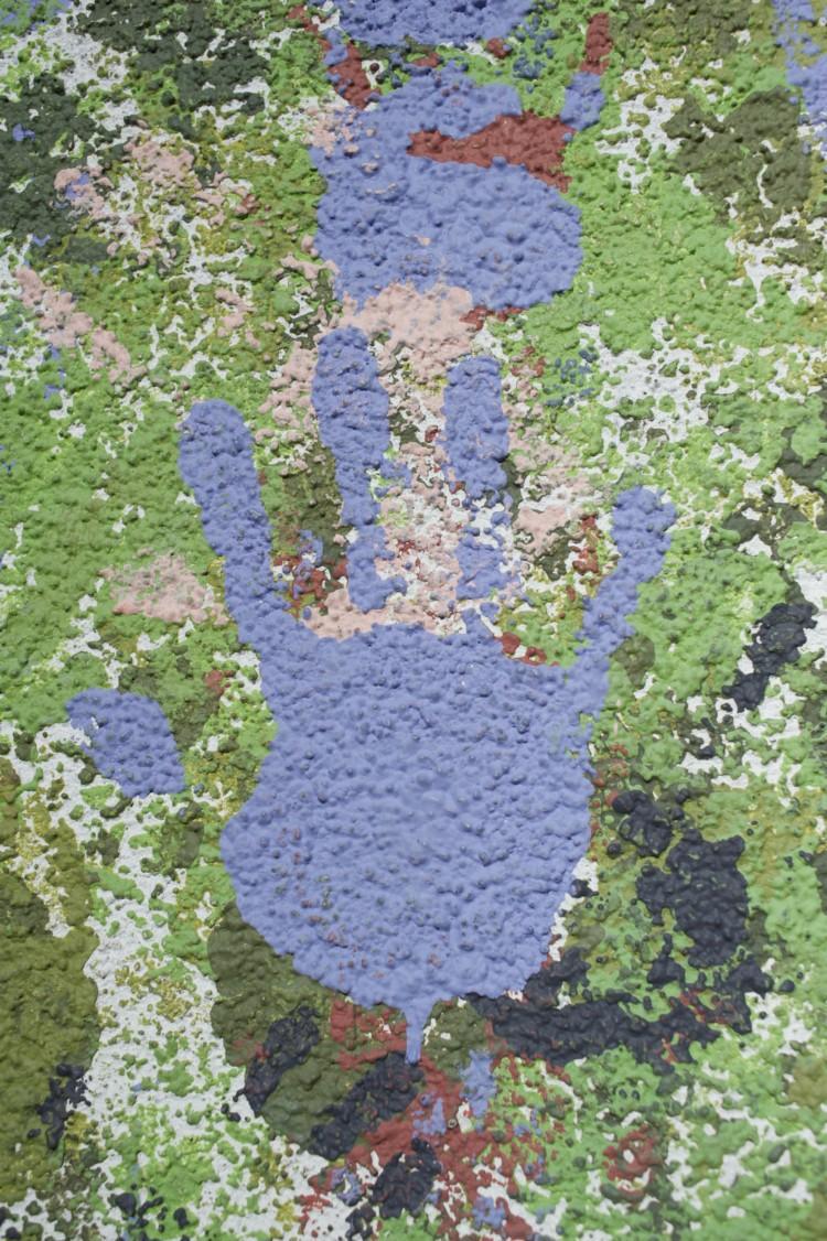 Upclose mural of hands