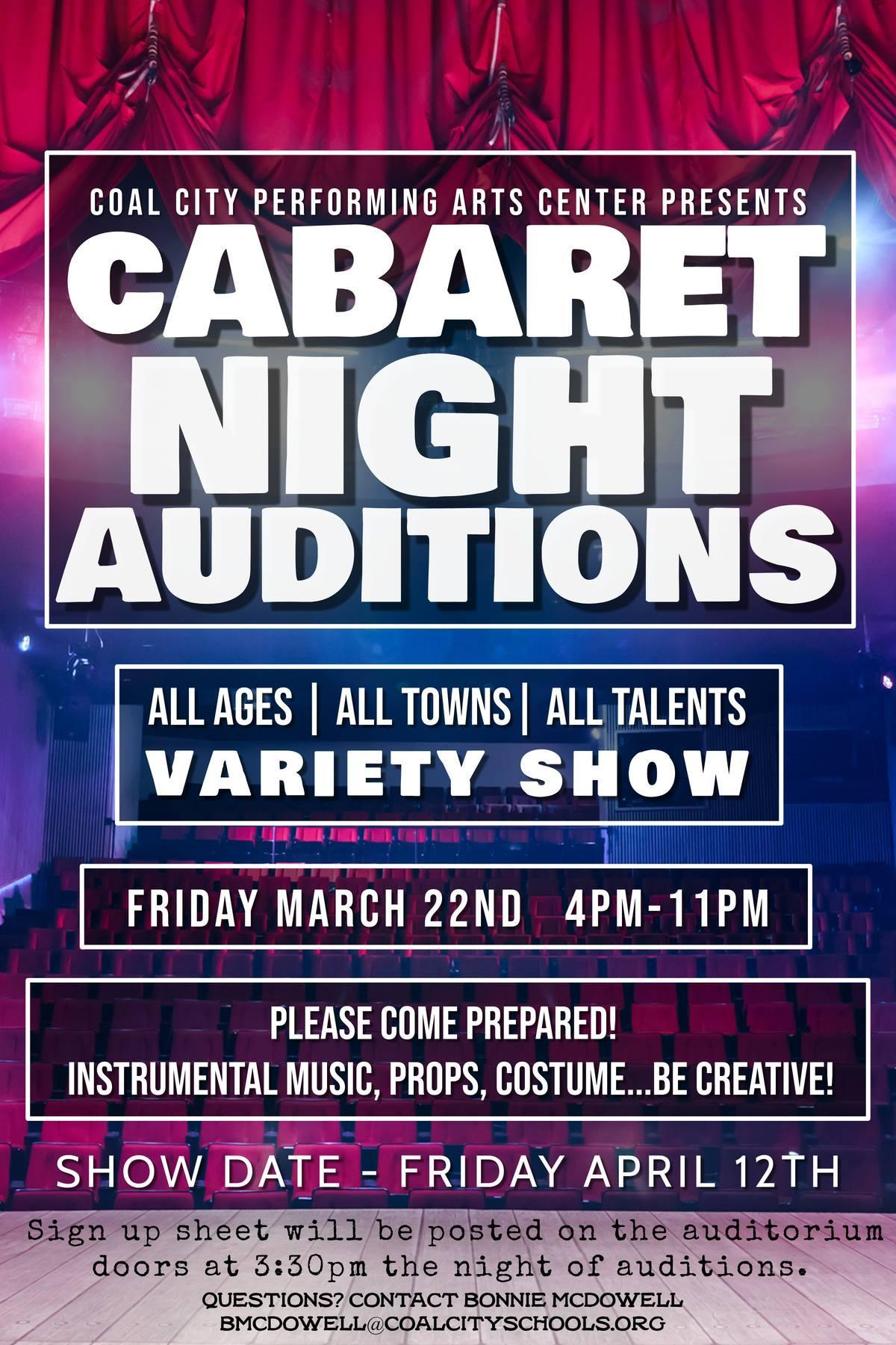 Cabaret Night Auditions
