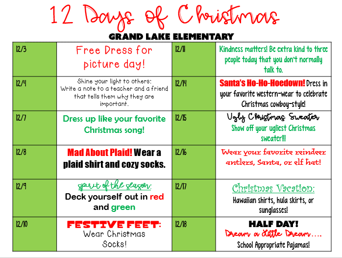 Elementary 12 Days of Christmas Thumbnail Image