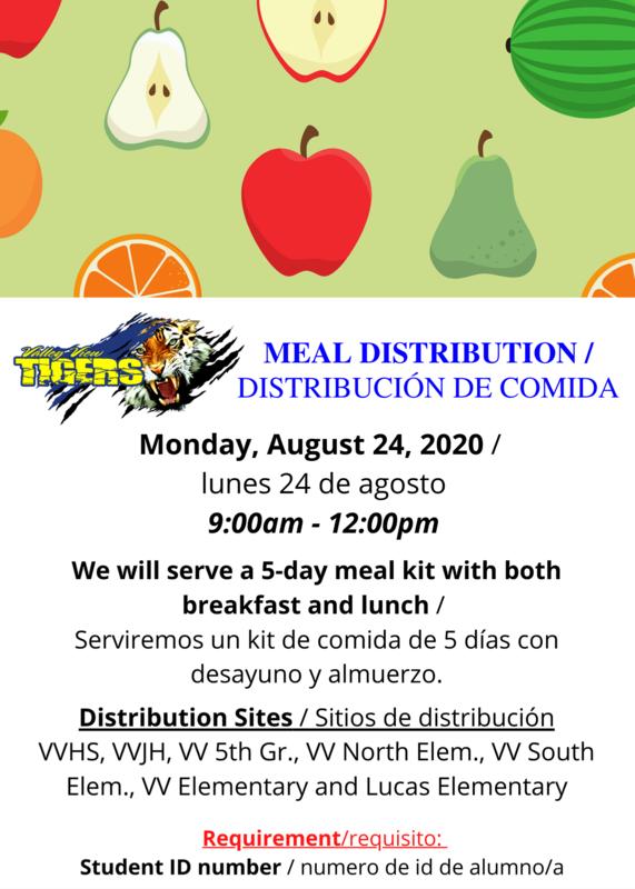 MEAL DISTRIBUTION / DISTRIBUCION DE COMIDA 8/24/2020 Thumbnail Image