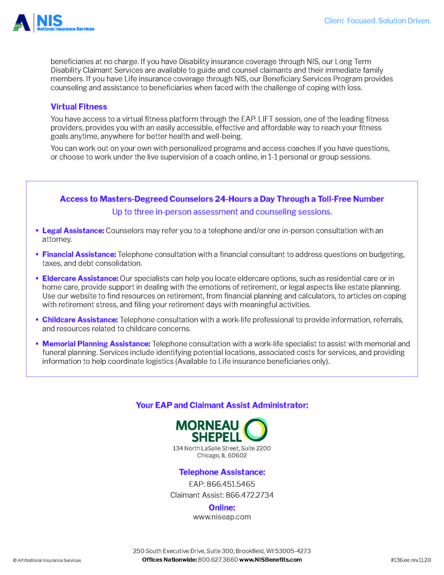 Employee Assistance Brochure Page 2