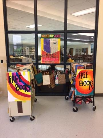 Book Giveaway display