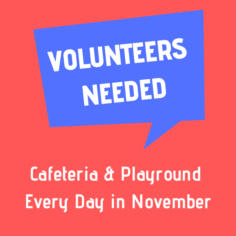 Volunteers Needed Every Day in November!!! Featured Photo