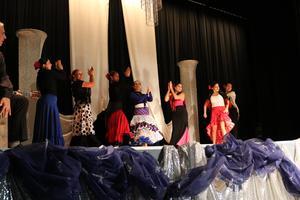 flamenco teachers dancing on stage
