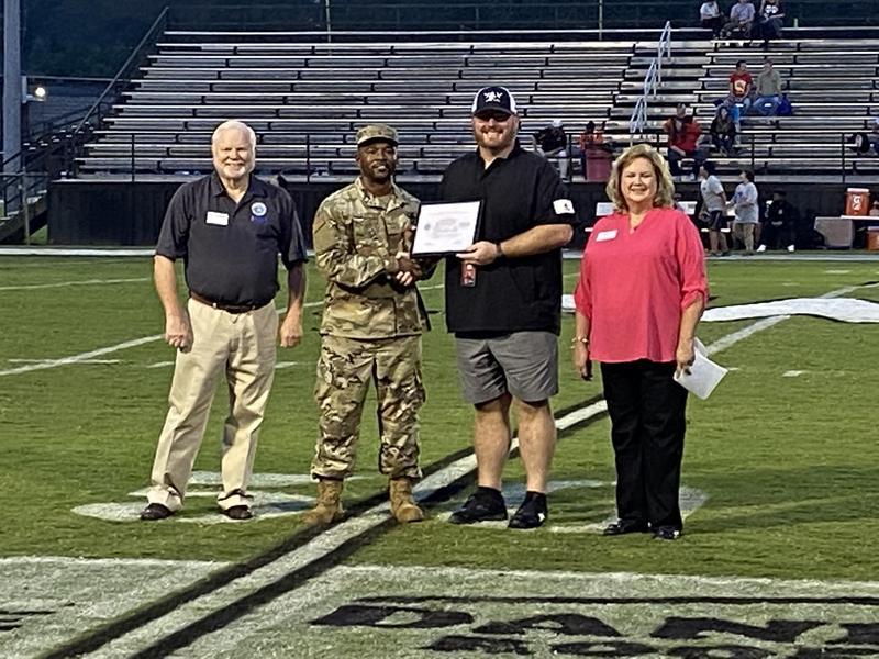 WLHS Principal Receives Military Support Award